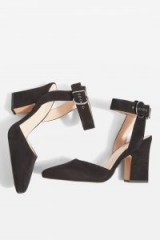 TOPSHOP Grande Mary Jane Heeled Shoes ~ black chunky heel Mary Janes