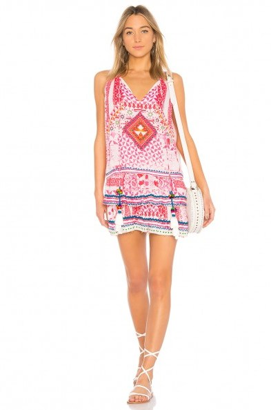 HEMANT AND NANDITA ESOTERIC TUNIC PINK – holiday dresses – vacation relaxed day style - flipped