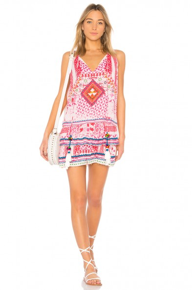 HEMANT AND NANDITA ESOTERIC TUNIC PINK – holiday dresses – vacation relaxed day style