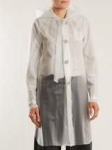 MM6 MAISON MARGIELA Hooded frosted rubberised raincoat ~ white see-through raincoats