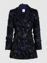 HUISHAN ZHANG‎ Ivy Sequinned Crepe Blazer | stunning embellished blazers | floral applique jackets