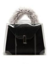 VALEXTRA Iside Medium raincoat ~ clear PVC covered handbags