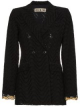 JOUR/NÉ Gold Trim Eyelet Blazer ~ black trouser suit jackets