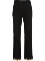 JOUR/NÉ Gold Trim Eyelet Trousers ~ black trouser suit pants