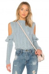 Karina Grimaldi JERRY SWEATER / blue cold shoulder jumpers