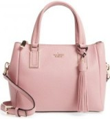 KATE SPADE NEW YORK SKINGSTON DRIVE SMALL ALENA LEATHER SATCHEL in Dusty Peony | luxe pink day bags | chic top handle handbags