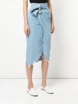 KIMHEKIM Venus skirt   denim style wrap skirts