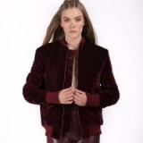 LULU the label Leo Velvet Bomber | dark red jackets