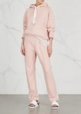 RAG & BONE Light pink jersey jogging trousers | sports luxe pants | side stripe joggers