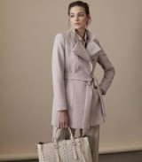 REISS LUCA WRAP-FRONT JACKET HUSK / stylish belted coats / tie waist jackets