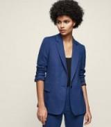 MALANI JACKET SINGLE-BREASTED BLAZER BRIGHT BLUE / tailored jackets/blazers