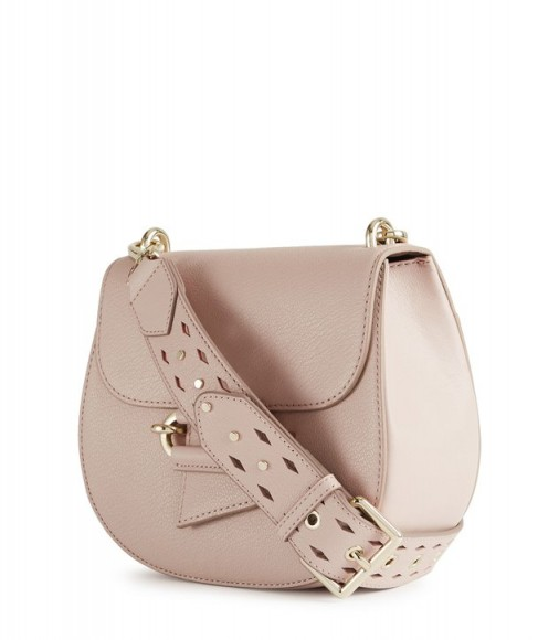 REISS MALTBY LEATHER CROSS-BODY BAG POWDER ~ blush crossbody bags