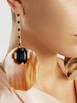 MARNI Crystal-Embellished Horn Earrings ~ designer statement jewellery