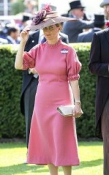 Sophie Countess of Wessex wearing a pink Emilia Wickstead dress / royal fashion / stylish royals
