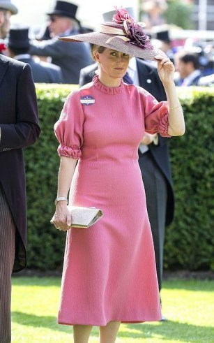 Sophie Countess of Wessex wearing a pink Emilia Wickstead dress / royal fashion / stylish royals - flipped