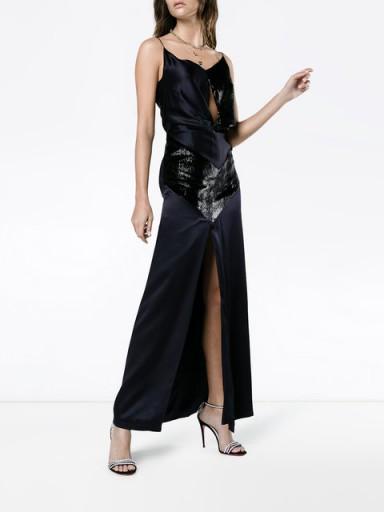 MICHAEL LO SORDO Silk Midi Dress – glamorous strappy dresses