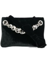 MIU MIU embellished chain clutch – black velvet bags