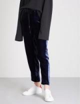 MO&CO. Relaxed-fit velvet jogging bottoms