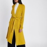 River Island Mustard yellow belted duster trench coat ~ stylish lightweight coats ~ spring style outerwear
