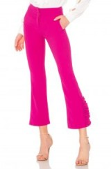 No. 21 TAPERED PANT in FUCHSIA – hot pink cropped trousers