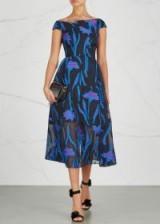 ROLAND MOURET Noblethorpe fil coupé midi dress ~ floral occasion dresses