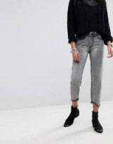 One Teaspoon Awesome Baggies Straight Leg Jean With Distressed Pocket in Camden | grey wash denim