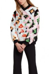 Opening Ceremony DIAMOND SILK PULLOVER | floral quilted tops