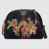 GUCCI Ophidia dragon embroidered shoulder bag