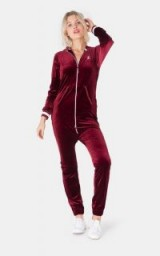 OnePiece ORIGINAL VELOUR JUMPSUIT RED – cosy weekend jumpsuits