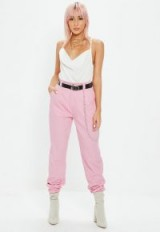 Missguided pink chain detail cargo trousers