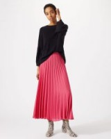 JIGSAW PLEATED MIDI SKIRT WATERMELON / pink skirts / wardrobe staple