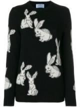 PRADA rabbit intarsia jumper – cute bunny jumpers