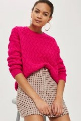 Topshop Pretty Geometric Print Jacquard Mini Skirt   pink printed skirts