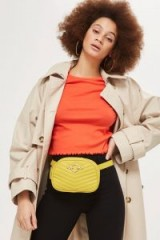 Topshop Queenie Quilted Bum Bag | yellow 80s vintage style bags