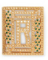 Ralph Lauren R Crystal Brooch / square brooches