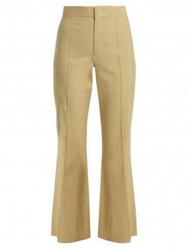 ISABEL MARANT Reeves cropped flare-leg trousers ~ khaki flares