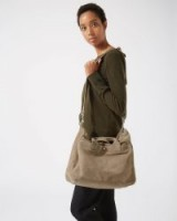 JIGSAW RENNER EVERYDAY BAG TAUPE / roomy suede bags