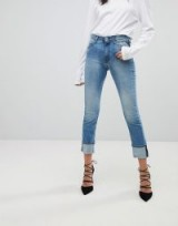 Replay Easy Stretch High Rise Slim Leg Jean in lightwash blue | light wash denim