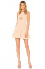 Ronny Kobo VALERIE DRESS BLUSH – pale pink sleeveless cut out fit and flare dresses