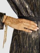 ROSANTICA Aquilone Fringed Gold-Tone Hand Piece | chic boho jewellery