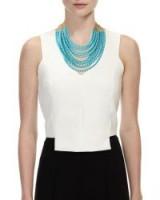 Rosantica Raissa Multi-Strand Beaded Necklace, Turquoise ~ blue bead statement necklaces