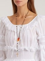 DOLCE & GABBANA Rosary charm-embellished necklace ~ statement necklaces
