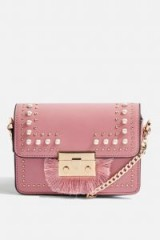Topshop Rosie Pearl Fringe Cross Body Bag | small pink crossbody bags