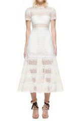 SELF PORTRAIT BEA MIDI DRESS, self portrait midi dress, self portrait dress white