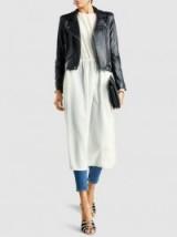 SOFIE D'HOORE Deserve Silk Midi Dress ~ long sleeved white dresses ~ simple elegance