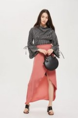 Topshop Soft Wrap Maxi Skirt in Dusty Pink | long skirts for spring/summer