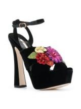 SOPHIA WEBSTER Lilico Glitter Platform sneakers – chunky floral platforms