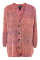 Topshop Space Dye Cardigan | mulberry winter tone knitwear | grandad style cardigans
