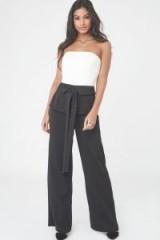 LAVISH ALICE Strapless Jumpsuit with Corset Belt | monochrome jumpsuits