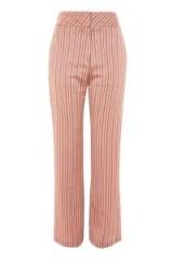 Topshop Stripe Slouch Trousers ~ blush pink striped pants